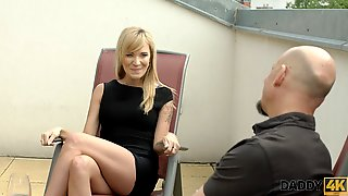 DADDY4K. Old man wants to see how his sons girlfriend Angel