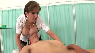 Milf Nurse with a Guy