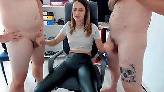Euro Guy Sucked and Jerk by his Hot Wife