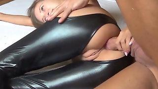 Skinny swedish chick takes hot anal creampie