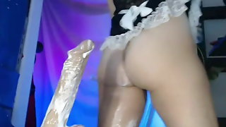 Foglove69 Gretel Milano Takes Overflowing Cum From Huge Dild