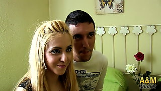 Two young couples enjoy sex group first time.