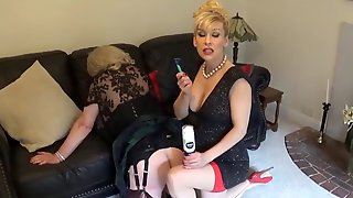 Madame C shaves slut Angelica's ass