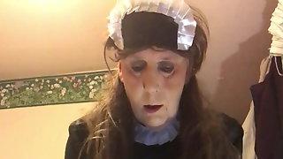 Estim and Milking for Naughty satin maid Joanna