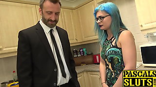 Goth vixen Caitlin Minx bondage banged before eating jizz