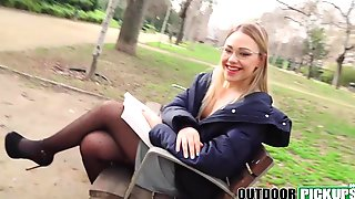 Picked up teen slut banged by total stranger in public