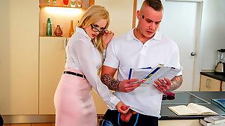 KINKY TUTOR - Hot MILF Angel Wicky seduces & bangs student