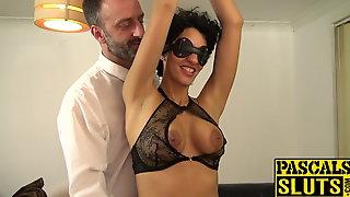 BDSM enthusiast Red Rose pumped before big cock cumshot