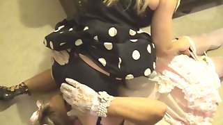 Sissy Satin maid spanked & cum by madame-c