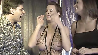 Big Dick Magician Tricks on Big Boobs Hot Assistants