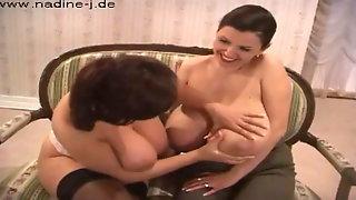 Milena squirts Nadine away
