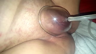 Horny girlfriend pussy pumped