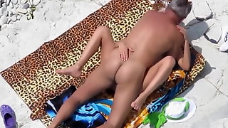 Mature Couple Fucking On The Beach Mom and Pop Go At It