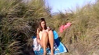 Beach dune blowjob