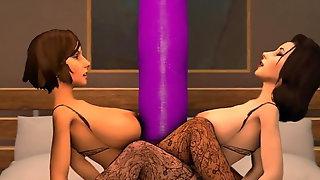 Bioshock infinite:Threesome tentacles