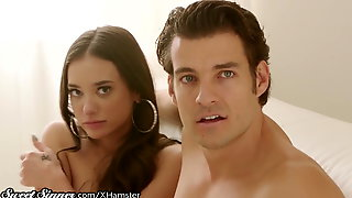 Naughty Twin Babe Fucks her Sisters Man- And He Doesn't Know