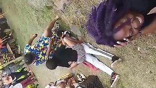 African Girls Having Fun