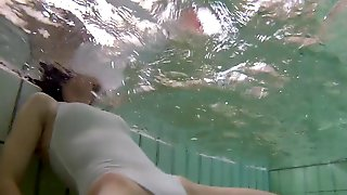 Underwater swimsuit candid