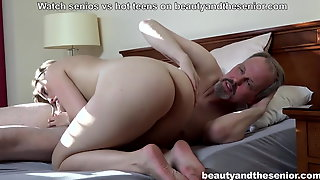Horny niece finds  uncle in the shower and fucks him hard
