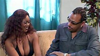 Ebony chick gets her ass pounded