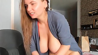 4:50-7:20 Waterfall Squirts Sexy Ukrainian Boobs