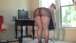 Big Ass In Black Pantyhose