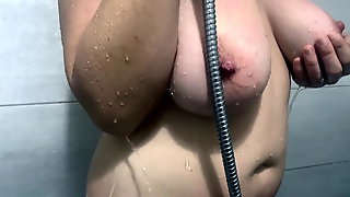 How bisex wife taking a shower