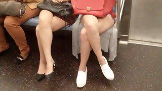 Asian legs on train 5