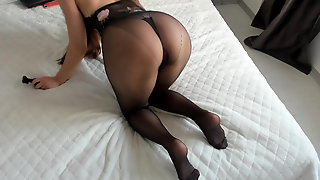 Very hot girl with pantyhose