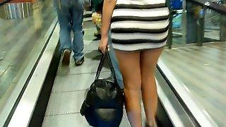 Nude girl in the train