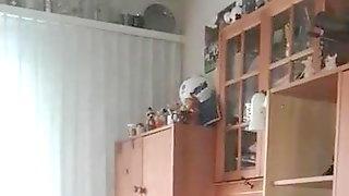 Wanking during tv watching
