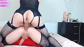 BlitzTrannys - Clara Destroy Alice Ass With Big Cock