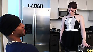 Black guy fucks white tranny s mouth and ass