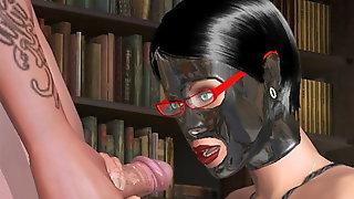 3D latex BDSM kink mask ropes bondage nerd game AChat MGTOW