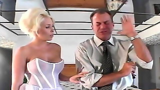 Blonde bride gets eaten out then fucked in her ass