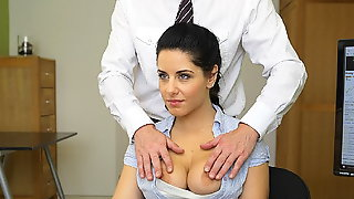 LOAN4K. Hottie is out of money so why she takes her clothes