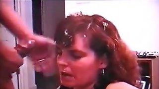 Homemade blowjob facial compilation