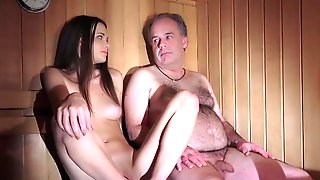Hot sauna with not my dad