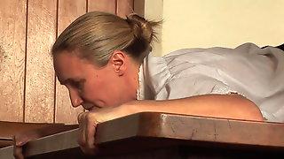 Mature maid birched