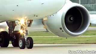 Stewardess Madelyn Marie Fucks the Pilot