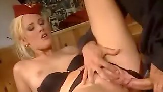 Airline Captain fucked his new Stewardess