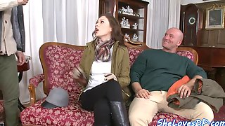 Lovely euro seduces her lovers and enjoys dp